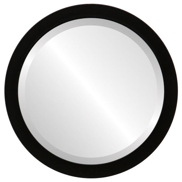 Beveled Mirror - Manhattan Round Frame - Matte Black