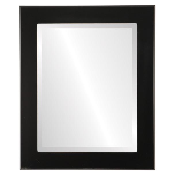 Beveled Mirror - Avenue Rectangle Frame - Matte Black