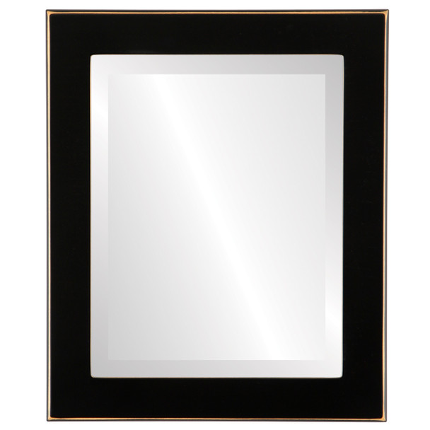 Beveled Mirror - Avenue Rectangle Frame - Rubbed Black