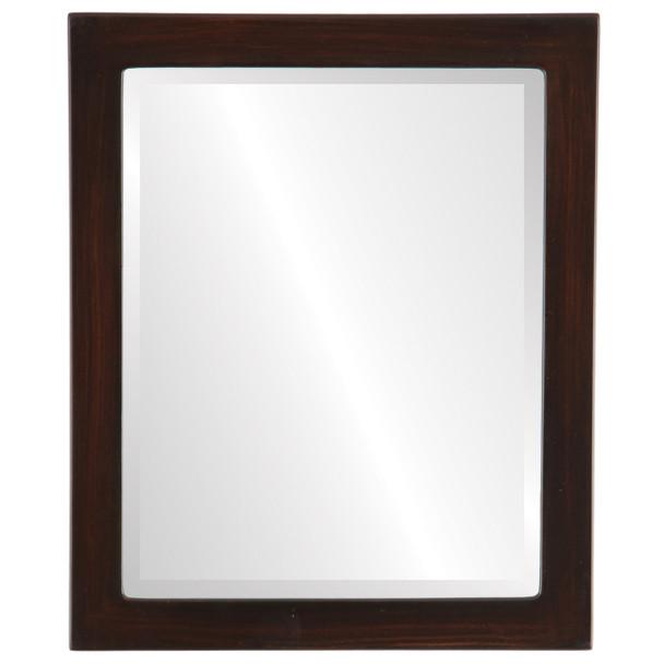 Beveled Mirror - Vienna Rectangle Frame - Mocha