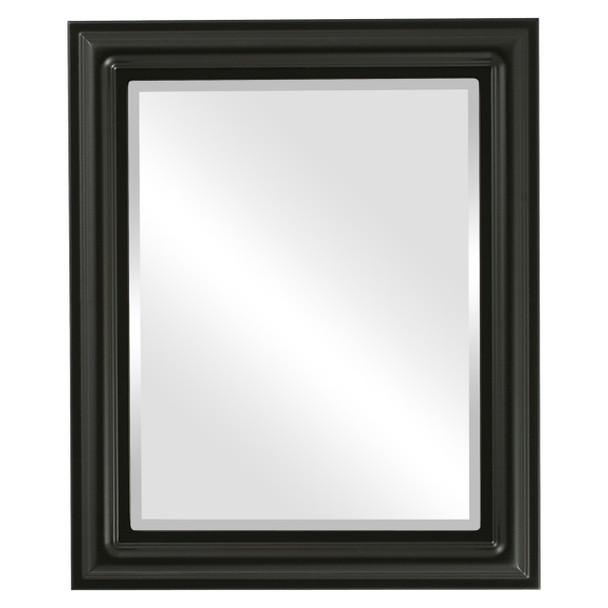 Beveled Mirror - Philadelphia Rectangle Frame - Matte Black