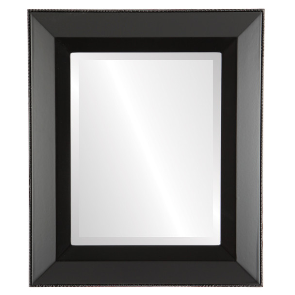 Beveled Mirror - Lombardia Rectangle Frame - Matte Black