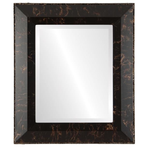 Beveled Mirror - Lombardia Rectangle Frame - Veined Onyx