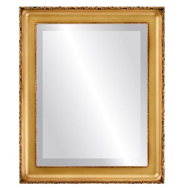 Beveled Mirror - Kensington Rectangle Frame - Desert Gold