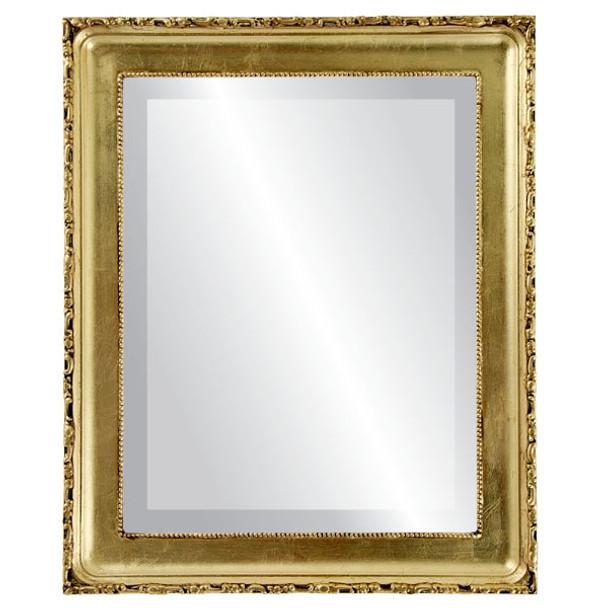 Beveled Mirror - Kensington Rectangle Frame - Gold Leaf