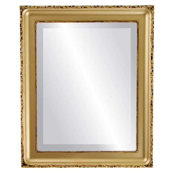 Beveled Mirror - Kensington Rectangle Frame - Gold Spray