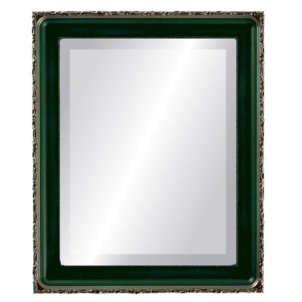 Beveled Mirror - Kensington Rectangle Frame - Hunter Green