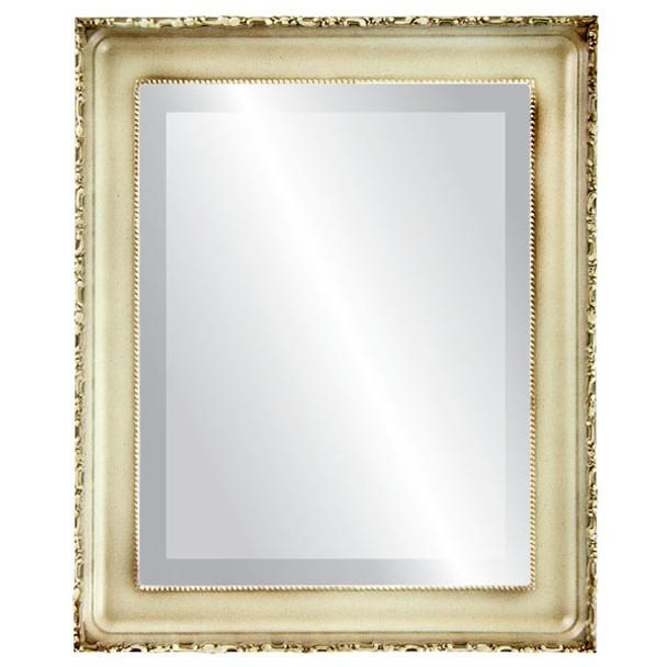 Beveled Mirror - Kensington Rectangle Frame - Taupe