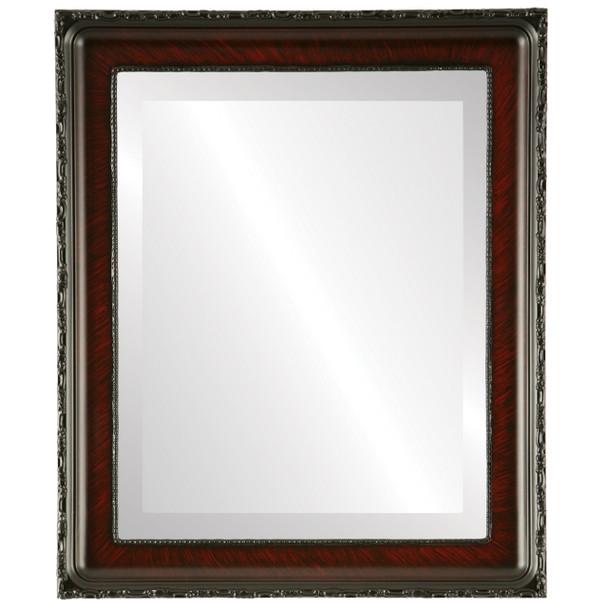 Beveled Mirror - Kensington Rectangle Frame - Vintage Cherry