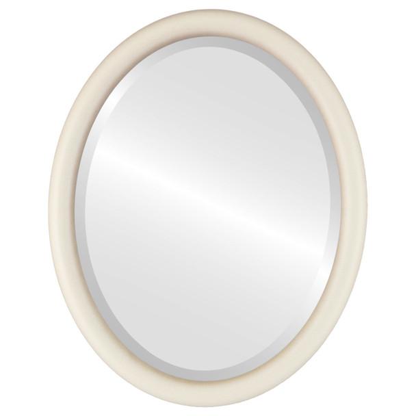 Bevelled Mirror - Pasadena Oval Frame - Taupe
