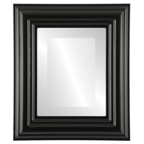 Beveled Mirror - Regalia Rectangle Frame - Matte Black