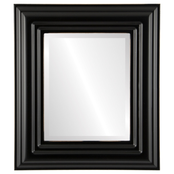 Beveled Mirror - Regalia Rectangle Frame - Rubbed Black