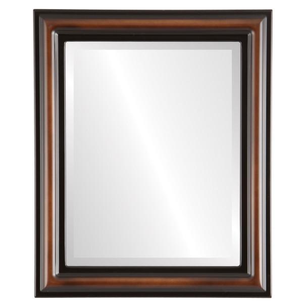 Beveled Mirror - Philadelphia Rectangle Frame - Walnut