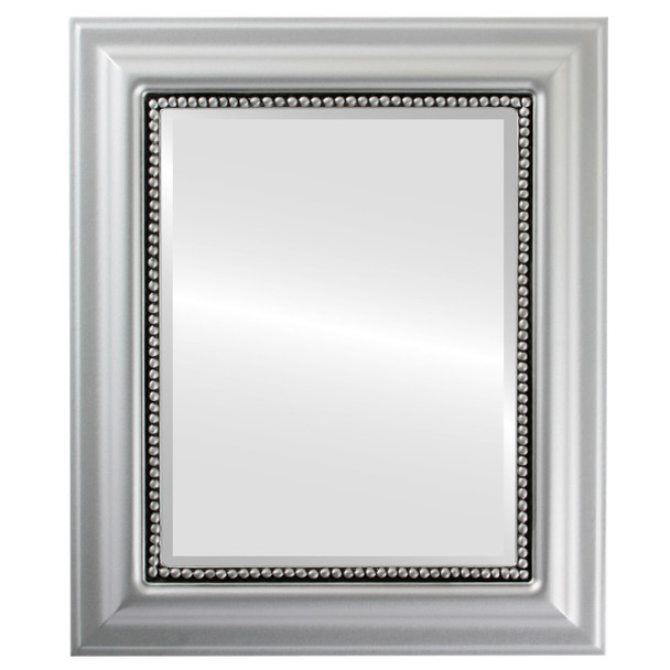 Beveled Mirror - Heritage Rectangle Frame - Silver Spray