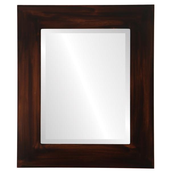 Beveled Mirror - Ashland Rectangle Frame - Mocha