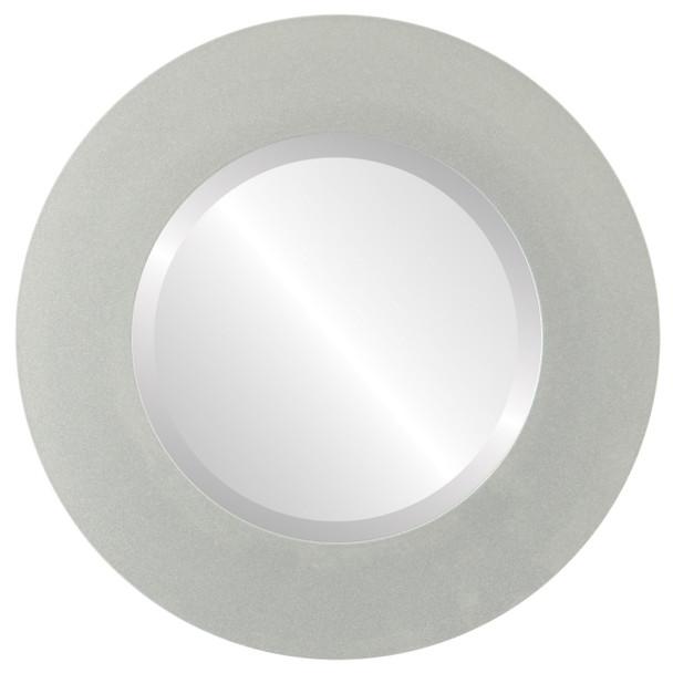 Beveled Mirror - Ashland Round Frame - Bright Silver