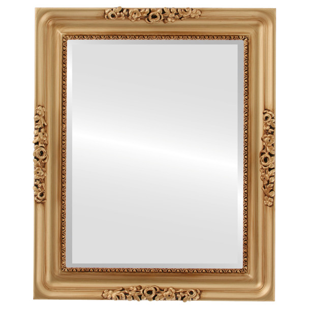 Beveled Mirror - Versailles Rectangle Frame - Gold Paint