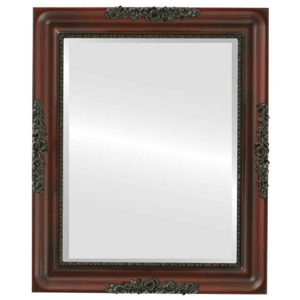 Beveled Mirror - Versailles Rectangle Frame - Rosewood