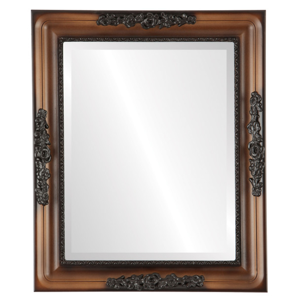 Beveled Mirror - Versailles Rectangle Frame - Walnut
