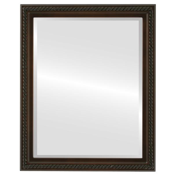 Beveled Mirror - Santa Fe Rectangle Frame - Walnut