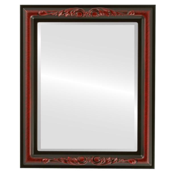 Beveled Mirror - Florence Rectangle Frame - Vintage Cherry