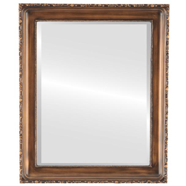 Beveled Mirror - Kensington Rectangle Frame - Sunset Gold