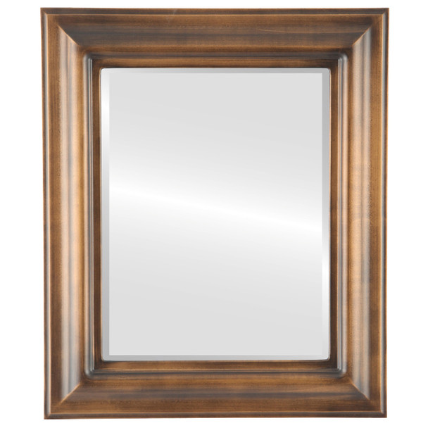 Beveled Mirror - Lancaster Rectangle Frame - Sunset Gold