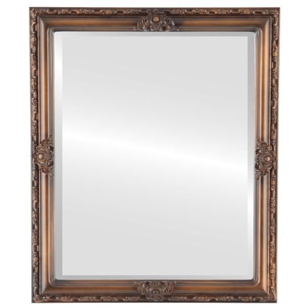 Beveled Mirror - Jefferson Rectangle Frame - Sunset Gold