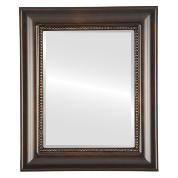 Beveled Mirror - Heritage Rectangle Frame - Rubbed Bronze
