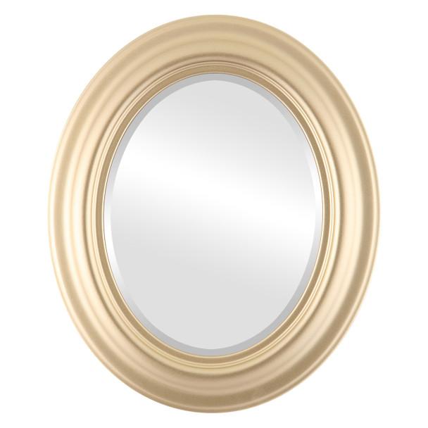 Beveled Mirror - Lancaster Oval Frame - Gold Spray