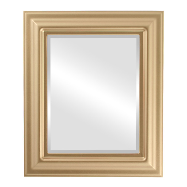 Beveled Mirror - Lancaster Rectangle Frame - Gold Spray