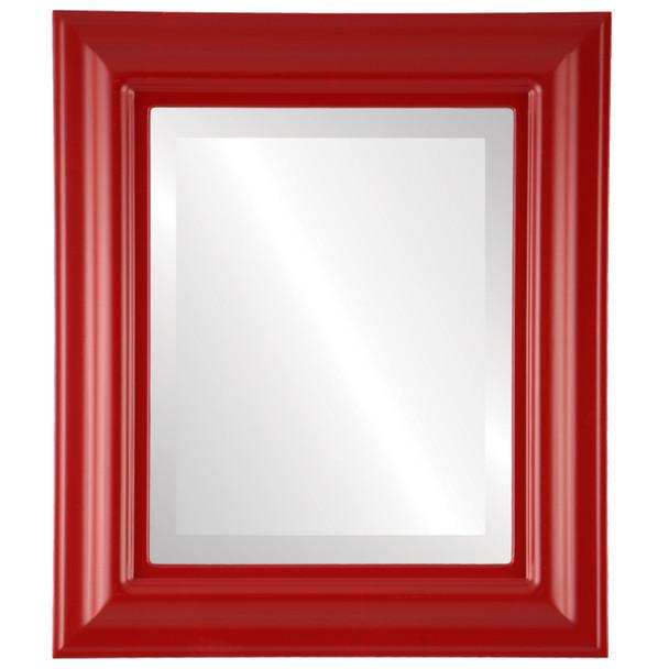 Beveled Mirror - Lancaster Rectangle Frame - Holiday Red