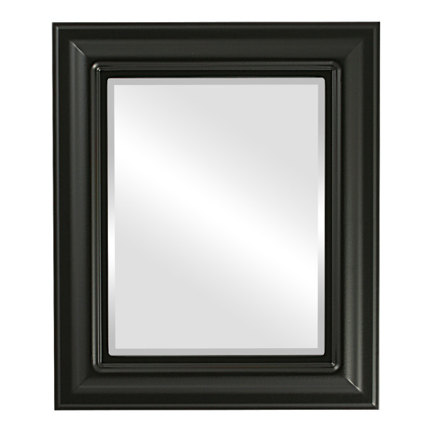 Beveled Mirror - Lancaster Rectangle Frame - Matte Black
