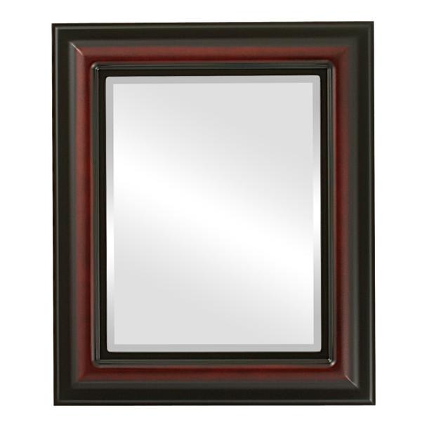 Beveled Mirror - Lancaster Rectangle Frame - Rosewood