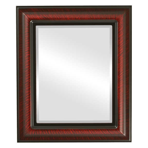 Beveled Mirror - Lancaster Rectangle Frame - Vintage Cherry