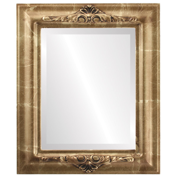 Beveled Mirror - Winchester Rectangle Frame - Champagne Gold