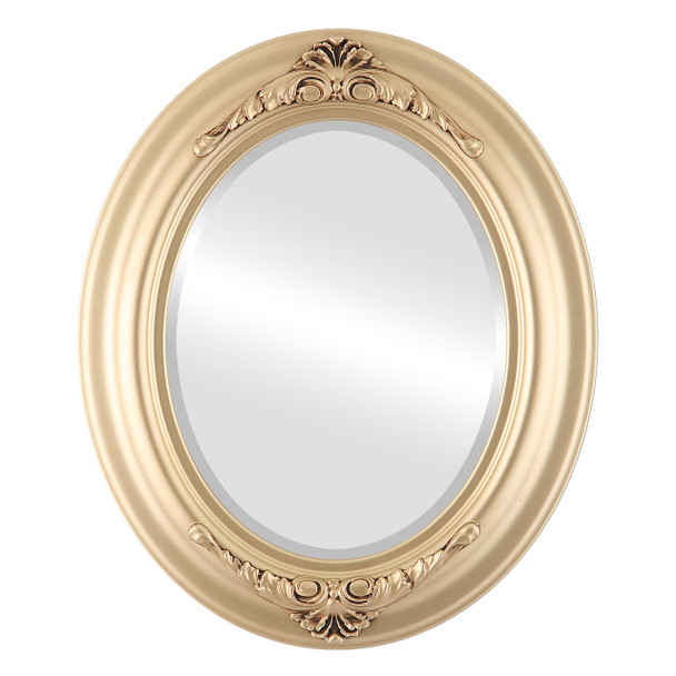 Beveled Mirror - Winchester Oval Frame - Gold Spray