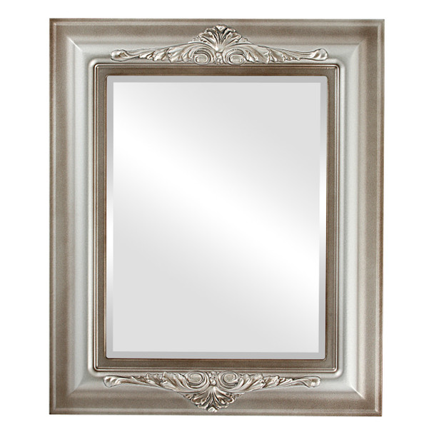 Beveled Mirror - Winchester Rectangle Frame - Silver Shade