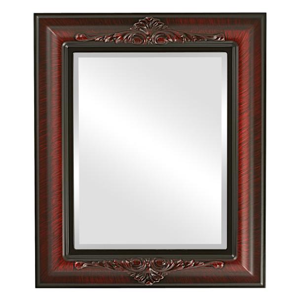 Beveled Mirror - Winchester Rectangle Frame - Vintage Cherry
