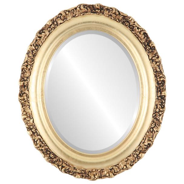 Beveled Mirror - Venice Oval Frame - Gold Leaf