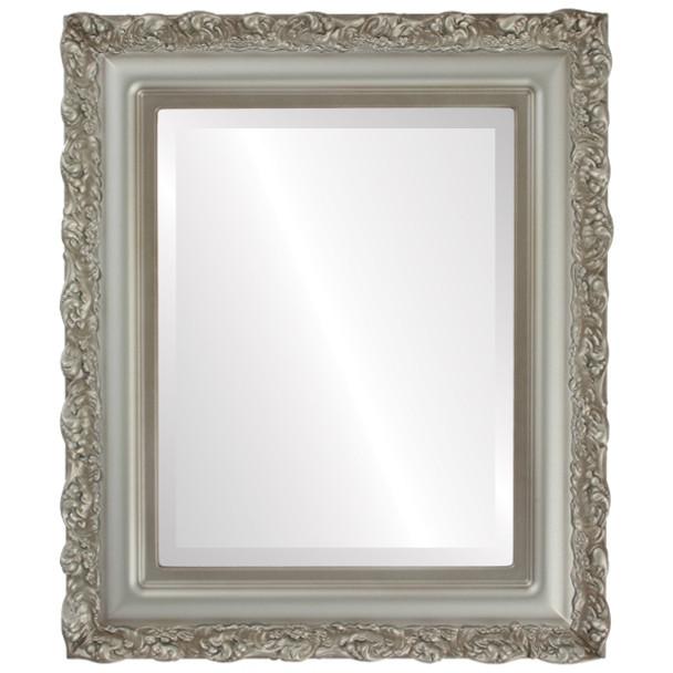 Beveled Mirror - Venice Rectangle Frame - Silver Shade