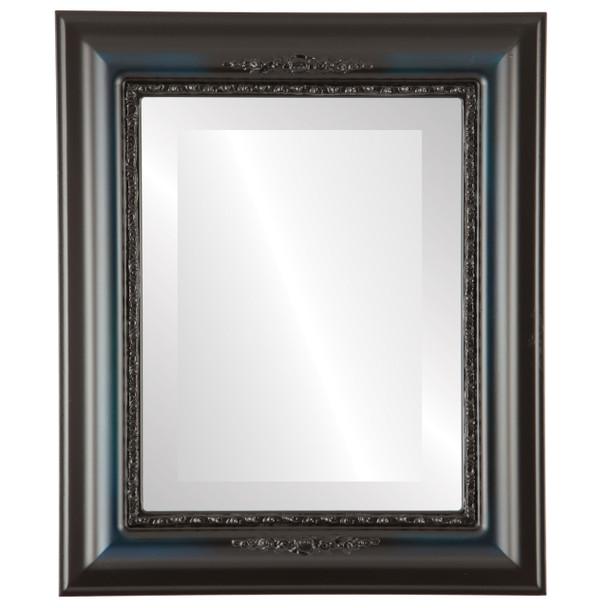 Beveled Mirror - Boston Rectangle Frame - Royal Blue