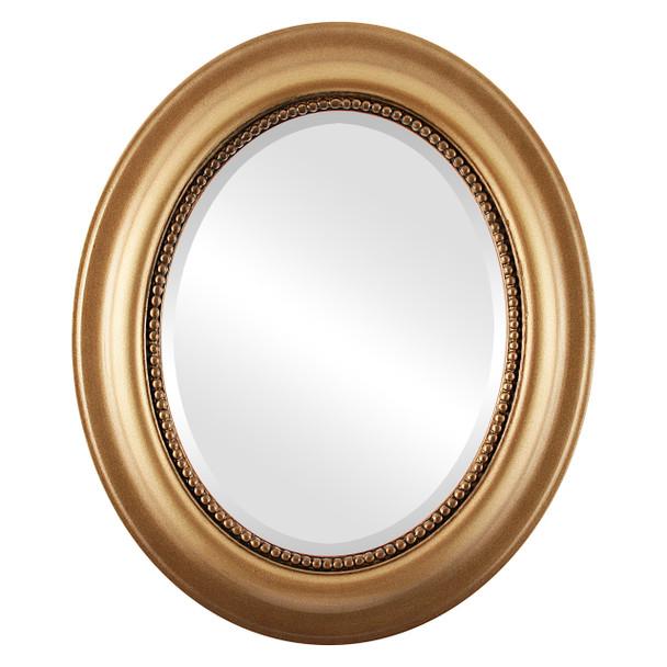 Beveled Mirror - Heritage Oval Frame - Desert Gold