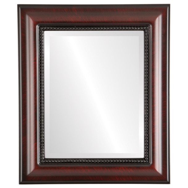 Beveled Mirror - Heritage Rectangle Frame - Vintage Cherry