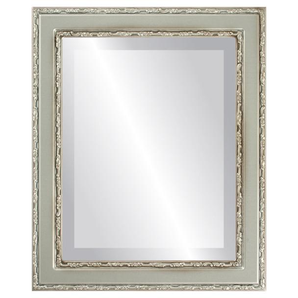 Beveled Mirror - Monticello Rectangle Frame - Silver Shade