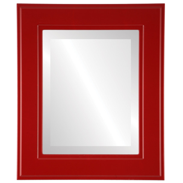 Beveled Mirror - Montreal Rectangle Frame - Holiday Red