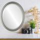 Lifestyle - Saratoga Oval Frame - Silver Leaf with Black Antique