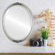 Flat Mirror - Contessa Oval Frame - Silver Leaf with Black Antique