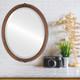 Flat Mirror - Contessa Oval Frame - Vintage Walnut