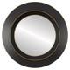 Flat Mirror - Veneto Circle Frame - Rubbed Black
